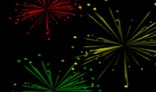 Random different colors fireworks. 1.5Kb only.