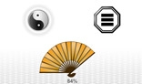 Chinese symbols. Feng shui. Yin and yang. Preloaders