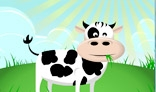 Cow on the meadow animation
