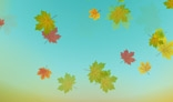 Autumn leaves falling down background. 2Kb only. AS2.0