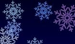 Multi-colored snowflakes