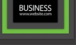 Green Stroke Business Card