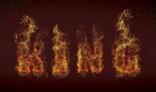 texto en fuego
