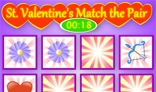 The flash St. Valentine's Day Match the Pairs game