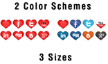 Hearts Social Icons