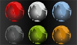 Different Colours Of Globes