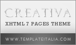 Creativa - XHTML 7 Pages creative theme portfolio