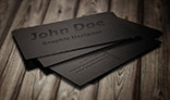 Leather Pressed Business Card