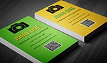 Colourful Creative Photographer's Business Card