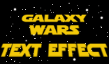 Galaxy wars text effect