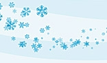 Wave of snowflakes. Flash animation. 3Kb only. AS2.0