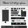 Black Ui kit for iphone