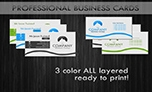 Premium Grey Business Cards Multi-Color