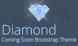 Diamond Coming Soon Bootstrap Theme