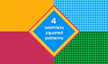 Seamless squared background set