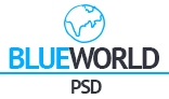 Blueworld onepage PSD Template