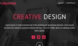 NEW CREATION – Modern & Multipurpose One Page Re