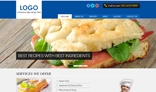 PSD Home page design for Cafe