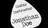 Guitarist Square Business Card