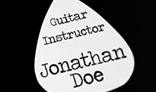 Guitarist Square Business Card