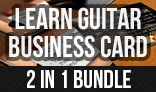 Learn Guitar Business Card (Bundle)