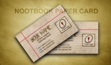 NOOTBOOK PAPER CARD