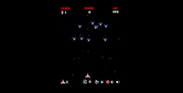 Galagal Power Ups, Space Shooter Video Game