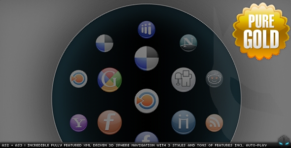 Professional 3D Sphere Navigation AS2 and AS3