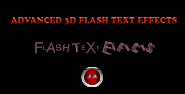5-3D Flash Text Effects Pack