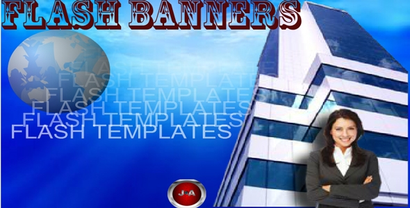 AS2 Advanced Blue Flash Banner