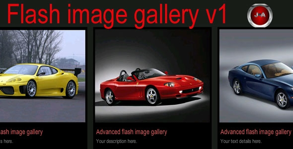 Flash image gallery