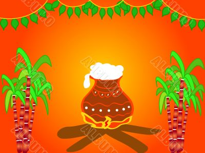 Indian harvest festival design