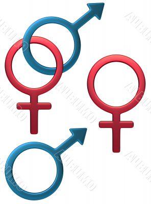 Feminine Male symbol