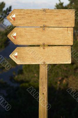 wood billboard blank 2, just add your text