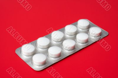 blister pack containing tablets