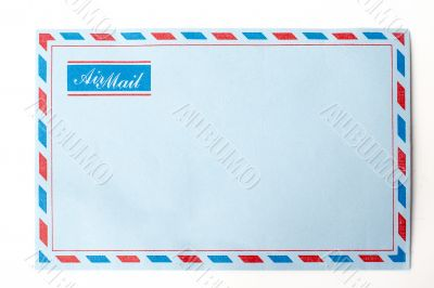 envelope in isolated background