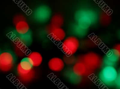 Christmas Light Blur
