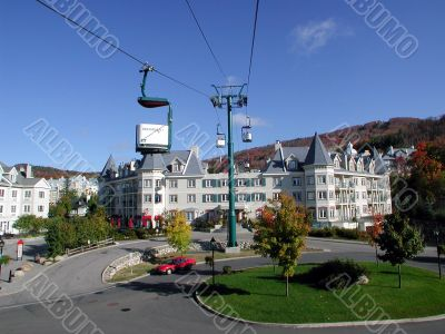 centre area at Mont Tremblant, Quebec