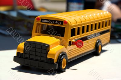 Toy Bus Front Focus