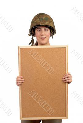 Holding the corkboard
