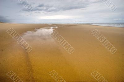 very wild ocean beach