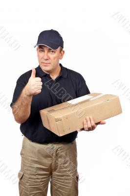 Courier success gesture