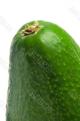 Avocado green and ripe macro