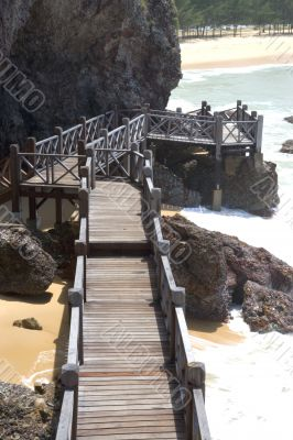 Walkway at Tropical Beach