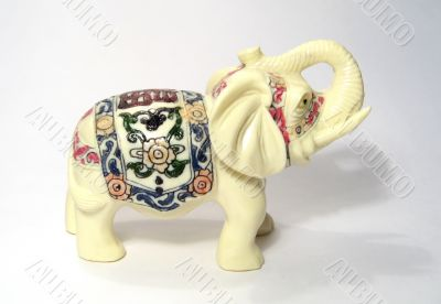 The ivory statue of indian elephant