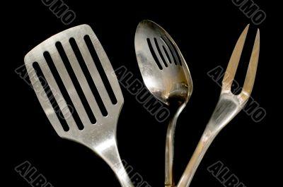 utensil on black