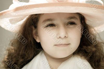 Girl in a fancy hat