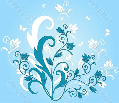 Abstract art floral design illustration