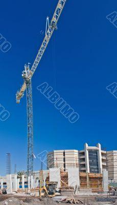 highrise condo construction site