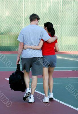 Tennis court romance